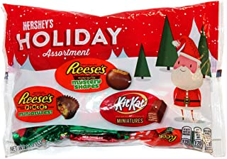 Hershey (1) Bag Hershey's Holiday Assortment - Reese's Mystery Shapes, Reese's Miniatures Stuffed with Pieces, Kit Kat Miniatures - Net Wt. 11.23 oz