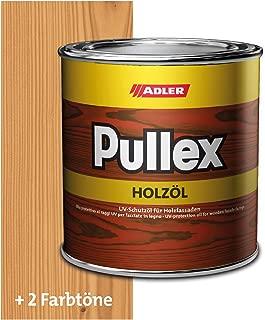 ADLER Pullex Holzöl Außen - Universell einsetzbar für senkrechte Holzflächen im Außenbereich - Holzpflege & Holzschutz auf Basis natürlicher, veredelter Öle - Farbe Natur 750 ml