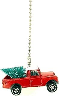 Diecast Custom Hybrid Ceiling Fan Light Pull Christmas Ornament (1976 Land Rover Pickup Red Hybrid)