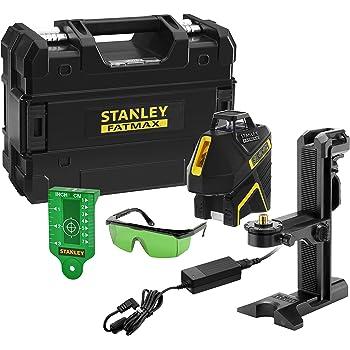 Laser Vert Gamme Fatmax Port/ée 30m // 50m avec Un Detecteur Protection IP54 Li-Ion Stanley FMHT77617-1 Niveau Multilignes SLG-2V