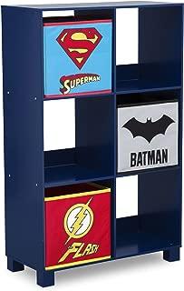 Delta Children 6 Cubby Deluxe Storage Unit, DC Comics Justice League