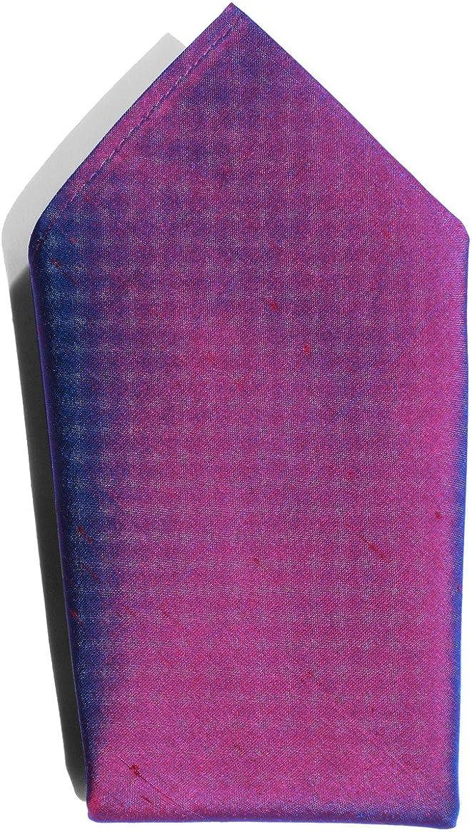 Iridescent Wine Glow Dupioni Silk Handkerchief
