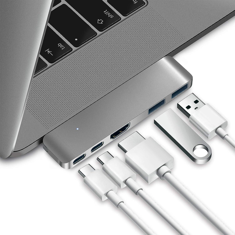 Purgo Mini USB C Hub Adapter Dongle for MacBook Air M1 2020-2018 and MacBook Pro M1 2020-2016, MacBook Pro USB Adapter with 4K HDMI, 100W PD, 40Gbps TB3 5K@60Hz, USB-C and 2 USB 3.0. (Renewed)