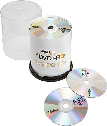 AmazonBasics 4.7 GB 16x DVD+R - 100 Pack Spindle