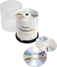 AmazonBasics 4.7 GB 16x DVD+R Blank DVD Discs - 100 Pack Spindle