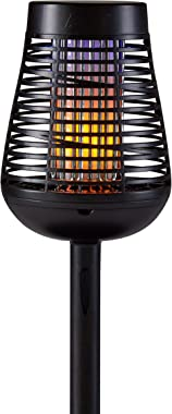 PIC Solar Insect Killer Torch (DFST), Bug Zapper and Accent Light, Kills Bugs on Contact - Twin Pack