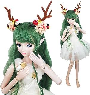 2ec85d9244 Green Deer 1/3 BJD Doll Spirit Demon Girl 24inch 60cm 19 Ball Jointed Dolls