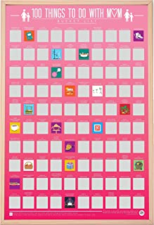100 Things To Do With Mum Scratch Off Activity Poster