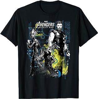 Marvel Infinity War Thor Groot Rocket Tech T-Shirt