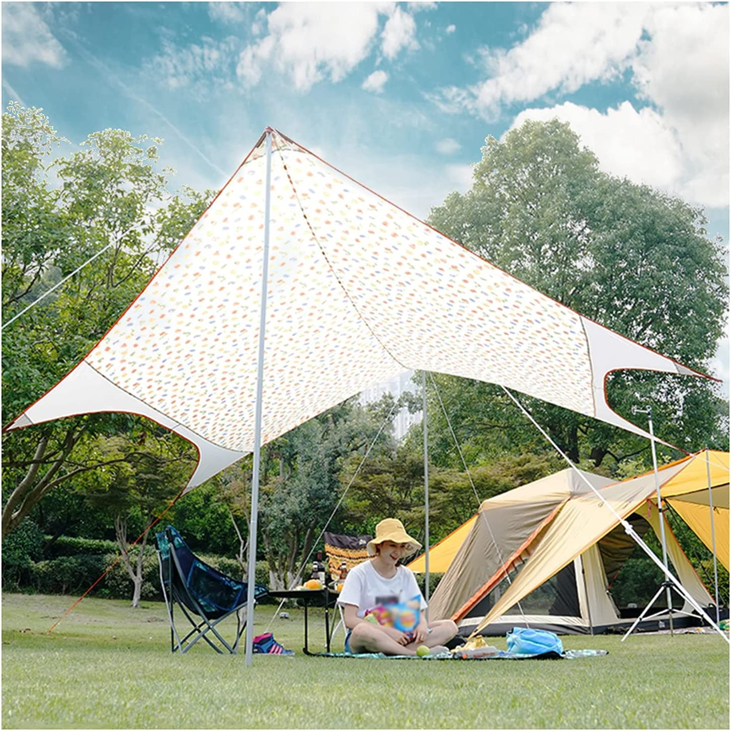 Waterproof Tarp Color Hexagon Camping Waterp Outdoor Canopy 40% OFF Cheap Sale Fashion Tent
