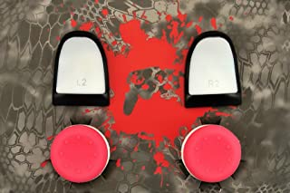Weapons of Mass Destruction - PS4 Performance Triggers and Precision Thumbsticks - 2 Tall Stem Sticks - Pink & White