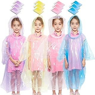 : transparente rosa p/úrpura paquete de 20 amarillo Juvale Ponchos de lluvia desechables de emergencia para mujer con capucha
