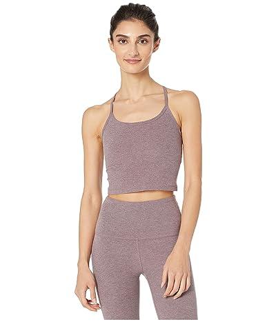 Beyond Yoga Spacedye Slim Racerback Cropped Tank Top (Dusty Mauve/Lilac Luster) Women