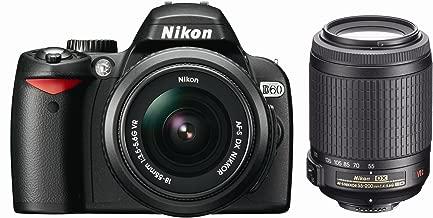Nikon D60 10.2MP Digital SLR Camera with 18-55mm f/3.5-5.6G AF-S DX VR and 55-200mm f/4-5.6G ED IF AF-S DX VR Zoom-Nikkor Lens with 2 Nikon School DVDs