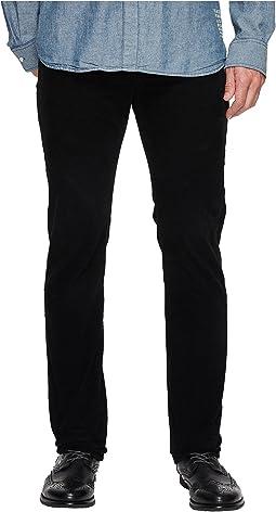 AG Adriano Goldschmied - Matchbox Slim Straight Leg Stretch Cordoury in Sulfur True Black
