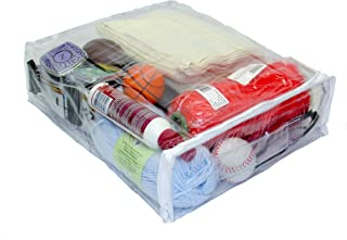 Oreh Homewares Heavy Duty Vinyl Zippered (Clear) Storage Bags (12