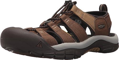 KEEN Men's Newport Hydro-M Sandal, Mulch Dark Earth, 17 M US