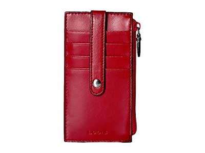 Lodis Accessories Audrey RFID 5 Credit Card Case w/Zipper Pocket (Red RFID) Credit card Wallet