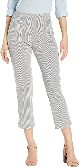 Stripe Bengaline Pull-On Capris