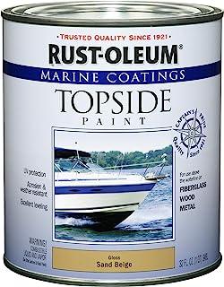 Rust-Oleum 207003 Marine Coatings Topside Paint, Quart, Sand Beige