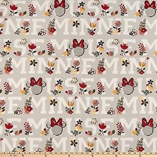 Disney Fleece Traditional Minnie Mouse, Grey Yard