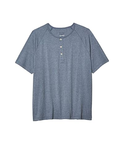 The Normal Brand Short Sleeve Active Puremeso Henley (Blue) Men