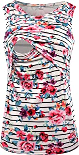 S-Comfy Women's Sleeveless Maternity Breastfeeding and Nursing Tank top Cami Vest