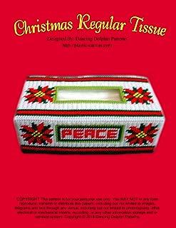 Christmas Regular Tissue Box Cover: Plastic Canvas Pattern