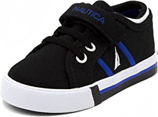 Nautica Toddler Edge View Canvas Sneakers Elastic and Adjustable Strap Casual Shoes (Toddler/Little Kid)