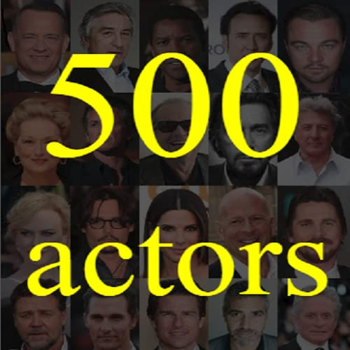 500 actores. Adivina el actor.