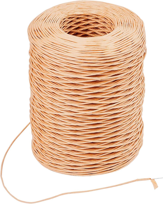 envoltura de papel de manualidades para bodas PandaHall Alambre de alambre floral de 210 m para enlazar alambre de 1 mm de Navidad alambre r/ústico para envolver vides coronas de flores