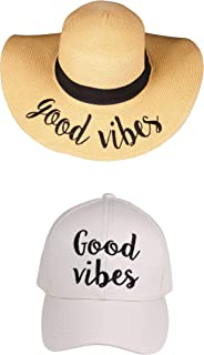 49a0079679e Funky Junque Women s Adjustable Embroidered Sayings Beach Sun Hat   Baseball  Cap Bundle