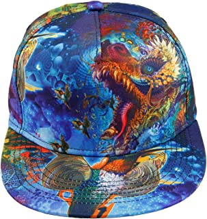 Unisex Snapback Hats,Adjustable Printed Hip Hop Flat Bill Baseball Cap