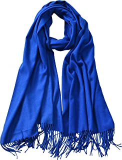 Large Soft Cashmere Silky Pashmina Solid Shawl Wrap Scarf for Women