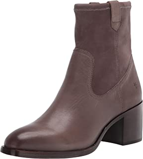 Frye womens Monroe Stretch Bootie Ankle Boot, Light Grey, 6 US