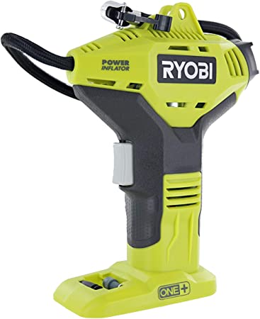 Ryobi Portable Power Inflator for Tires [NEW DIGITAL GAUGE] [18-Volt] [Cordless] [ONE+ Battery system] [P737D] (Battery Not Included, Power Tool Only): image