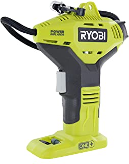 Ryobi Portable Power Inflator for Tires [NEW DIGITAL GAUGE] [18-Volt] [Cordless] [ONE+ Battery system] [P737D] (Battery No...