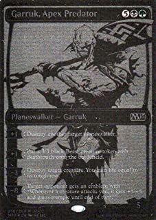 Magic: the Gathering SDCC 2014 Exclusive Foil Planeswalker Garruk, Apex Predator Card