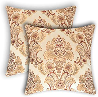 Grelucgo Set of 2 Damask Throw Pillow Case Cover Cushion Shells for Sofa, Bedroom and Car (22 x 22 Inches)