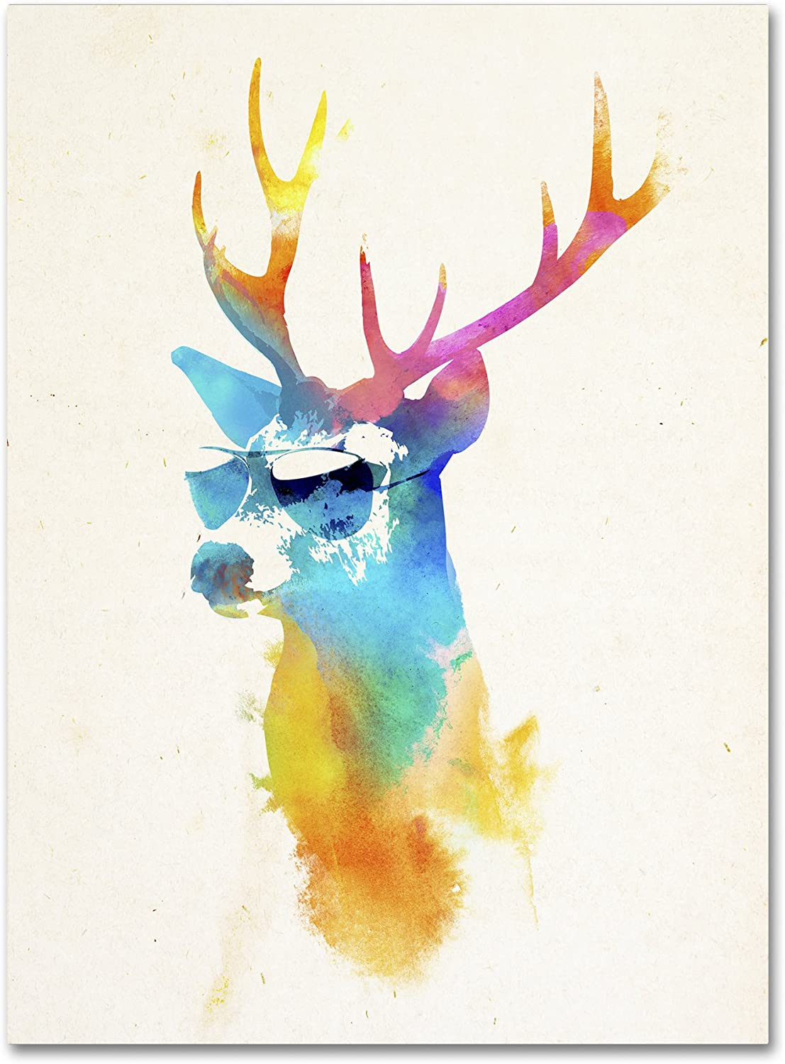 Sunny Stag By Robert Farkas 18x24 Inch Canvas Wall Art Posters Prints
