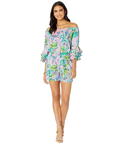 Lilly Pulitzer Calla Off-The-Shoulder Romper (Amethyst Tint Mermaid In The Shade) Women