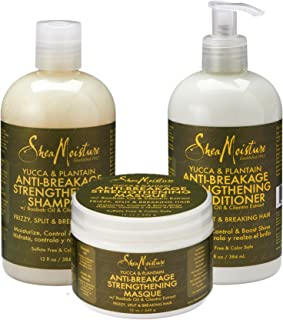 SheaMoisture Yucca & Plantain Anti-Breakage Strengthening Combination Set – Includes 13 oz. Shampoo, 13 oz. Conditioner & 12 oz. Hair Masque