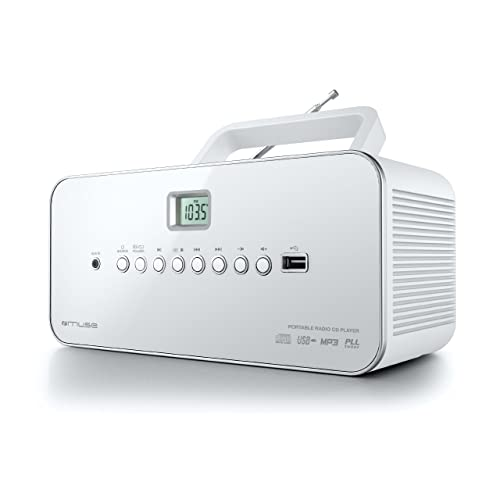 Muse M-28 RDW Radio lecteur de CD/MP3 USB portable Blanc
