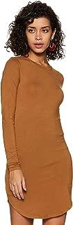 Forever Twenty One Rayon Body con Dress (191967_Camel_S)