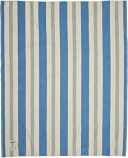 Woolrich Home Indigo Gray Vertical Stripe Wool Blanket