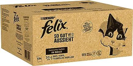 FELIX Katzenfutter nass in Gelee, Geschmacksvielfalt Sorten-Mix, Großpackung 120er Pack (120 x 85g)