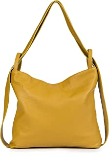 LIATALIA - Zaino da donna a tracolla, in morbida pelle italiana, borsa a tracolla due in uno - Nicole