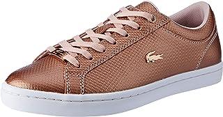 Lacoste Straightset 318 2 Women's Fashion Shoes, LT PNK/WHT