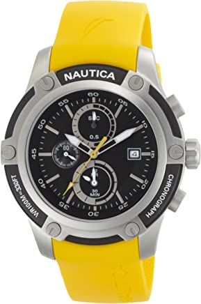 Nautica Mens N16561G NST 05 Black Dial Watch