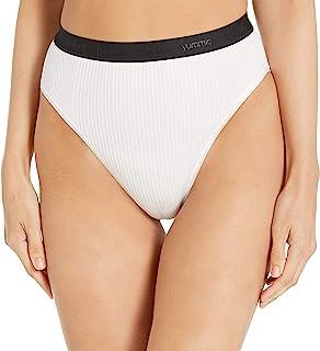 Yummie Women's Gemma Ribbed Smoothing High Leg Brief w/Logo Gemma Ribbed Smoothing High Leg Brief w/Logo